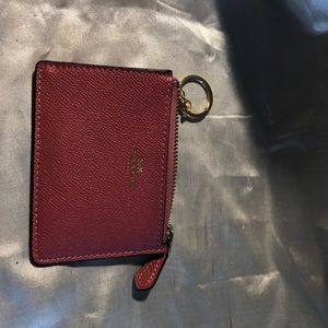 Coach Leather Mini ID Strawberry